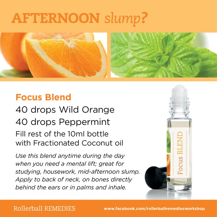 Afternoon slump? Grab your Focus Blend.  Recipe should not be used as is as the dilution is way too high. The number of drops should be reduced or this recipe could be used as a master blend. {klm}