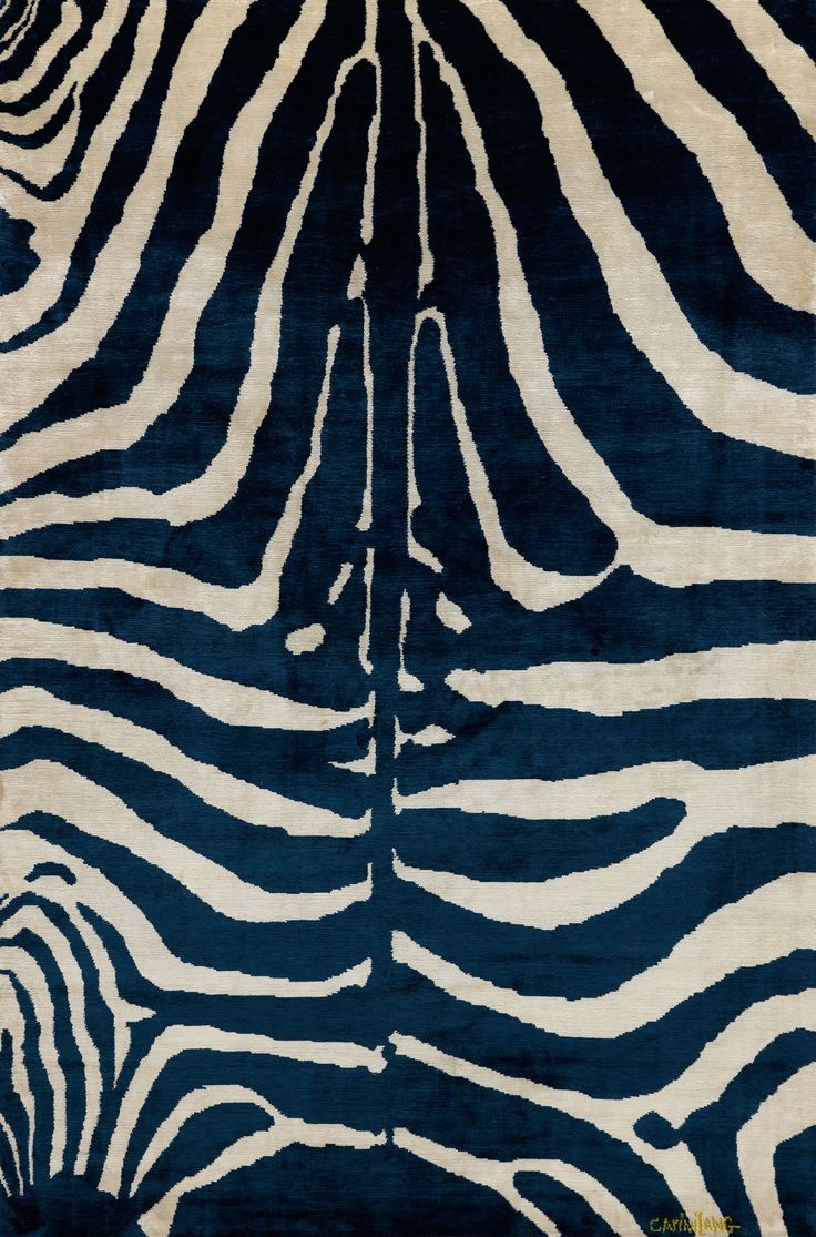 silk indigo zebra stripe from Carini Lang