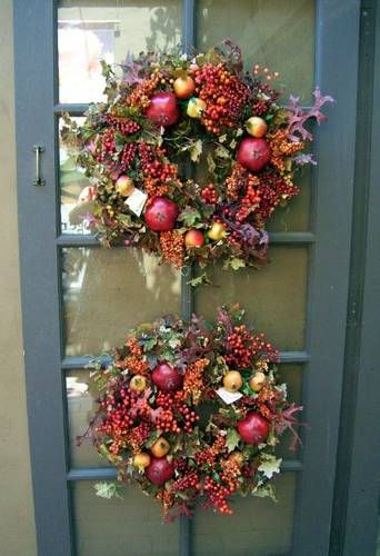 fall decorating ideas, two fall wreaths roger's gardens
