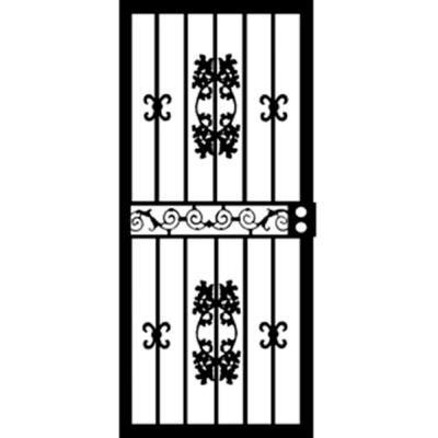 Grisham 36 In. X 80 In. 400 Series Black St. Louis Security Door