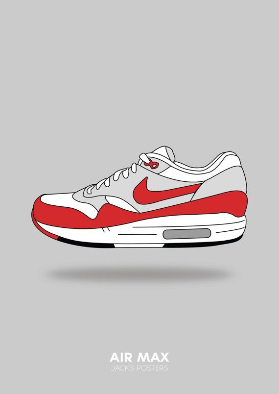 281e41bb9b082 A3 Poster. Nike Air Max Shoes poster. by JacksPosters on Etsy | Ads ...