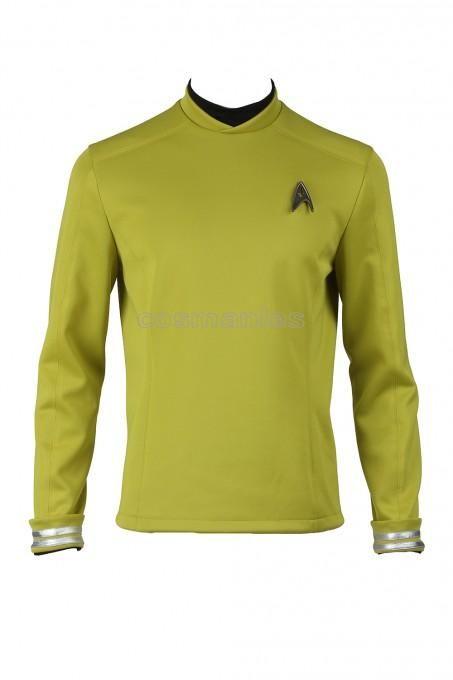 Star Trek Beyond James Tiberius Kirk Hikaru Sulu Yellow Top Cosplay Costume