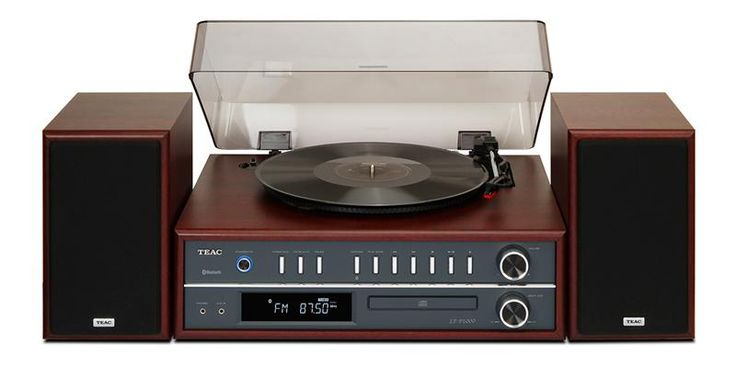 Chaîne HiFi Bluetooth avec Platine Vynile TEAC LP-P1000 - Platine 33/45/78 Tours - FM/AM RDS - Sortie Casque - Télécommande - Finition Bois - 399€