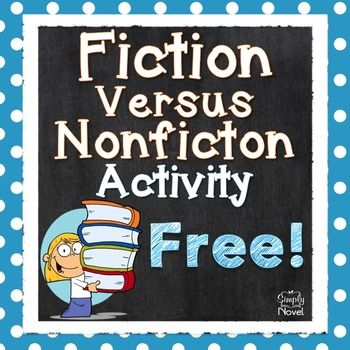 Fiction vs NonFiction Free DownloadAre you students having trouble recognizing and remembering the differences between fiction and non-fiction?  With this helpful printable, your kids will be able to learn the features of each, plus practice identifying the differences between the two.