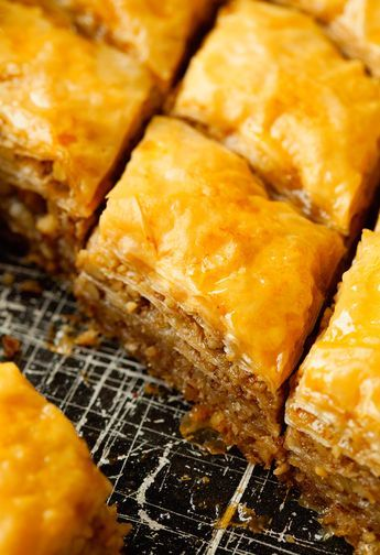 Honey Baklava Recipe In 2019 Baklava Recipe Honey Recipes Desserts