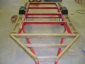 HF 4x8 mini-camper-trailer: frame extension detail