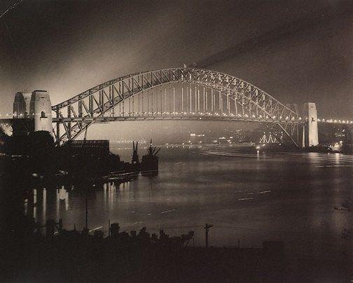 Harold Cazneaux  (New Zealand, Australia 1878–1953)  Untitled (opening night of Sydney Harbour Bridge)