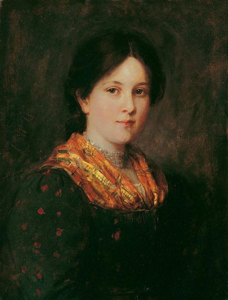 Franz von Defregger - Bauernmädchen mit Halsband