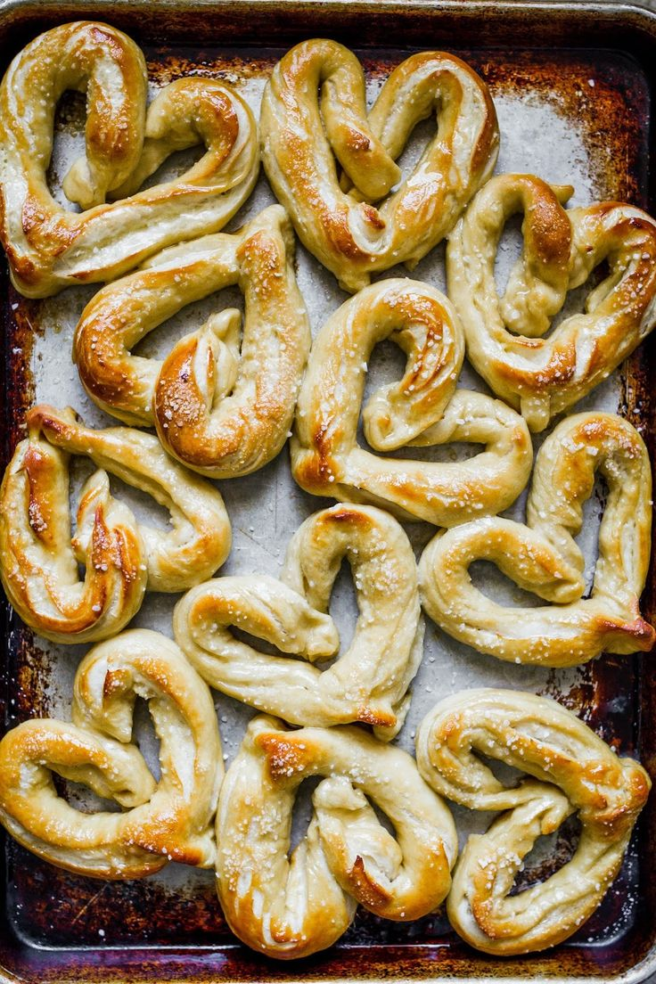 Heart Shaped Soft and Chewy Buttered Pretzels.  It's a great recipe and even includes step by step pictures for how to shape them!     My Name Is Snickerdoodle