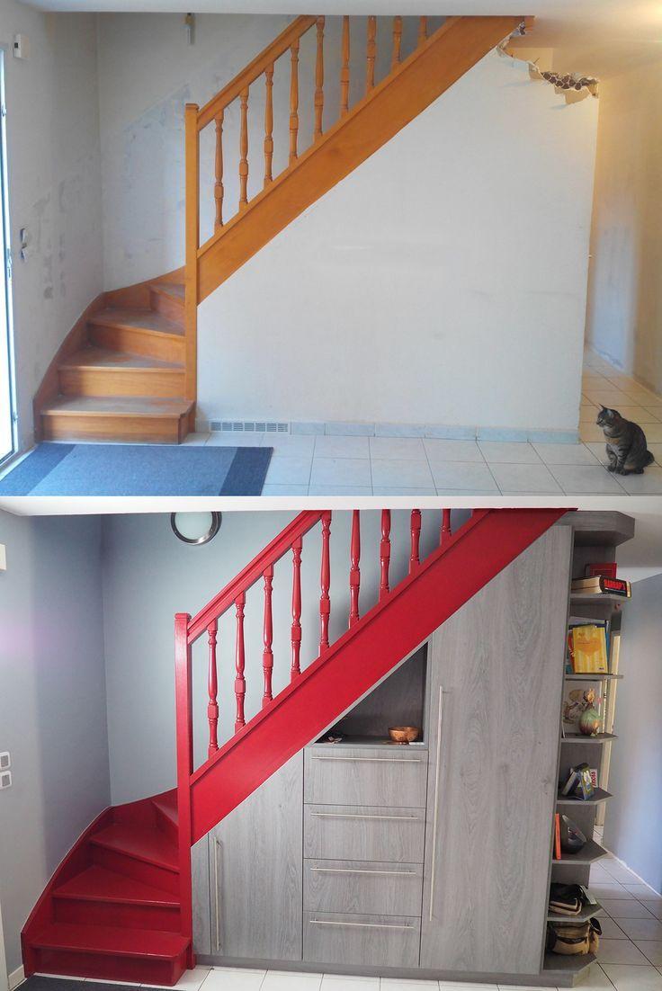 Avant Apres Placard Sous Escalier Tiroirs A Chaussures Placards Amenagement Malin Et Pratiqu Meuble Sous Escalier Rangement Sous Escalier Sous Escalier
