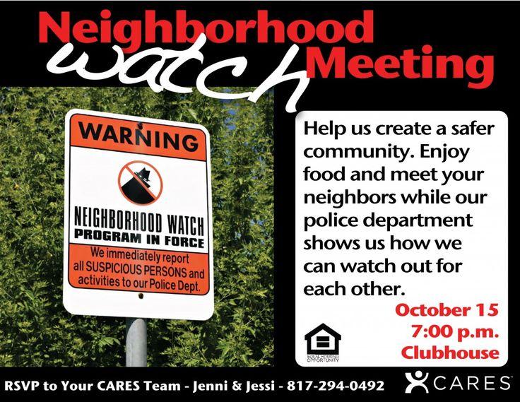 17 Best Ideas About Neighborhood Watch On Pinterest