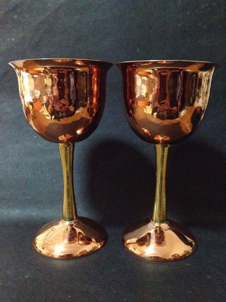 Estate Find - Vintage Copper & Brass Goblets x 2 for GOT or LOTR Party