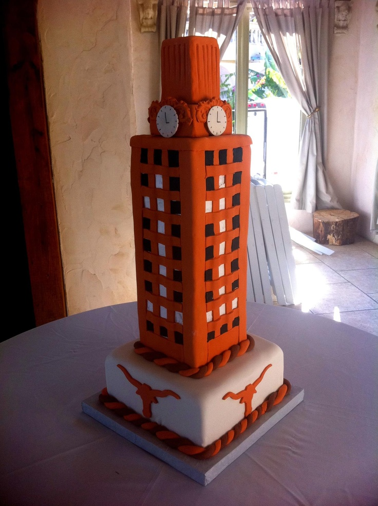 UT Longhorns cake, Mr. Natural, Austin   Graduation: Ceremony or no, this'll be my cake!