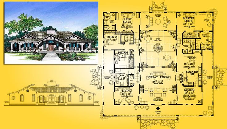 Floorplans For Houses With Center Courtyards Home