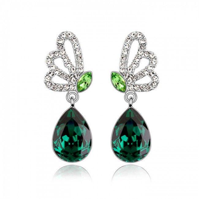 Butterfly Tears Swarovski Element Drop Earrings TCDE0097 #Jewelry #WomensJewelry
