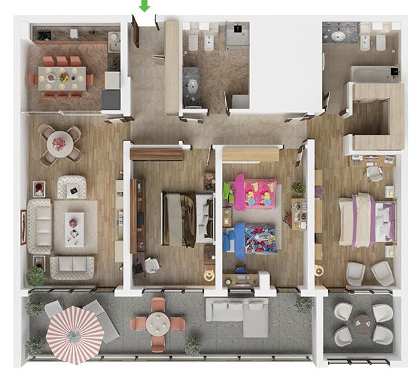 Apartament cu 4 camere in Brasov in noul ansamblul rezidential Isaran Residence. Un astfel de apartament cu 4 camere este ideal pentru orice familie si este perfect pentru a te bucura de mult spatiu si intimitate. Descopera mai multe pe www.isaran.ro.