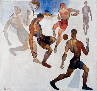 Football, 1924 - Alexander Deineka - 1200artists.com