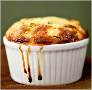 Mark Bittman - Zucchini Soufflé.  In my years of cooking and twiddling things in the kitchen, I've still never attempted a soufflé.