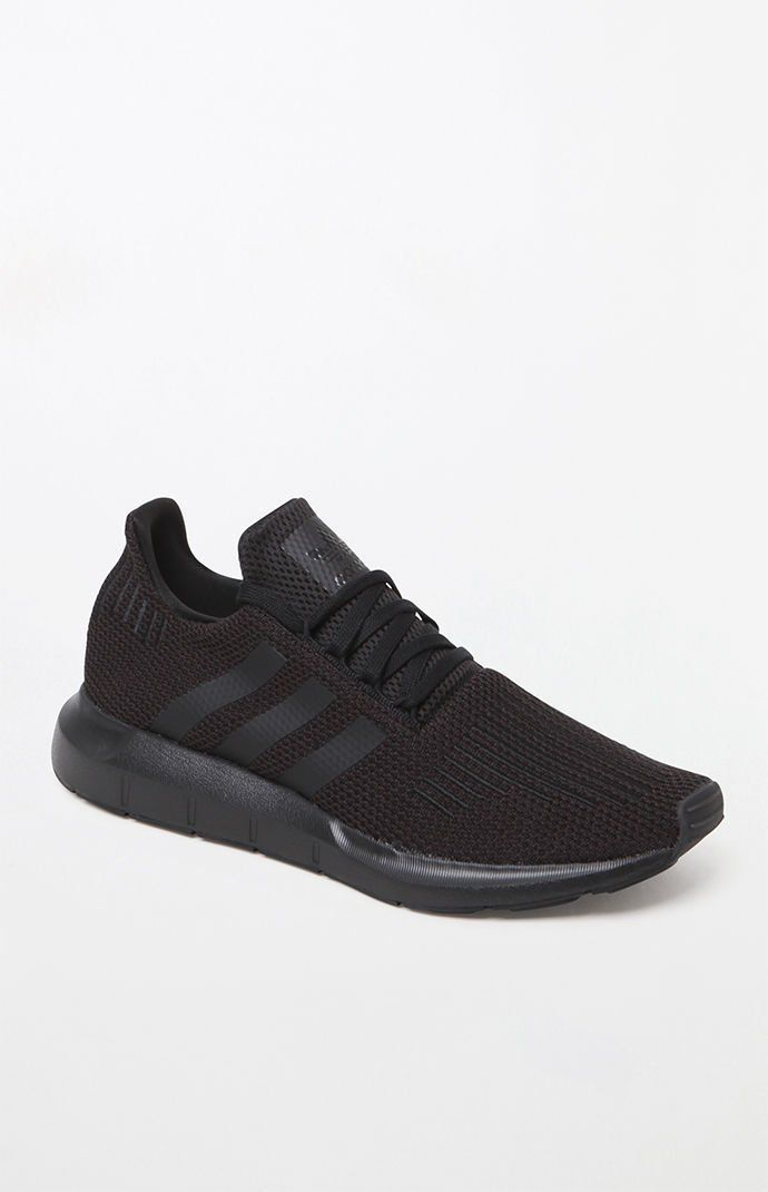 d0f0ae66ccfc adidas Swift Run Knit Black Shoes in 2019