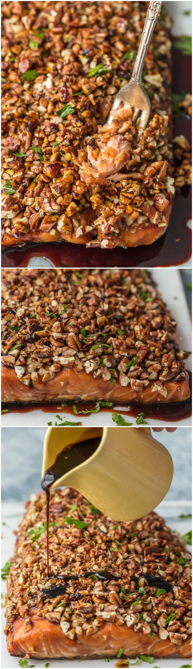 This PECAN CRUSTED HONEY BOURBON SALMON is ultra delicious and easy! The perfect family meal with all of the flavor and none of the fuss. via @beckygallhardin