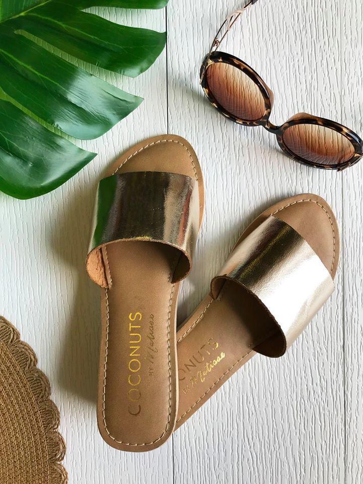 Matisse Coconuts Tiki Black Sandal