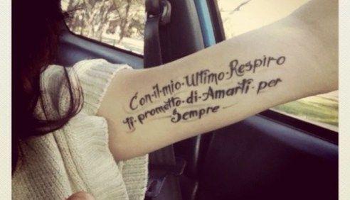 Schrift Tattoo Unterarm