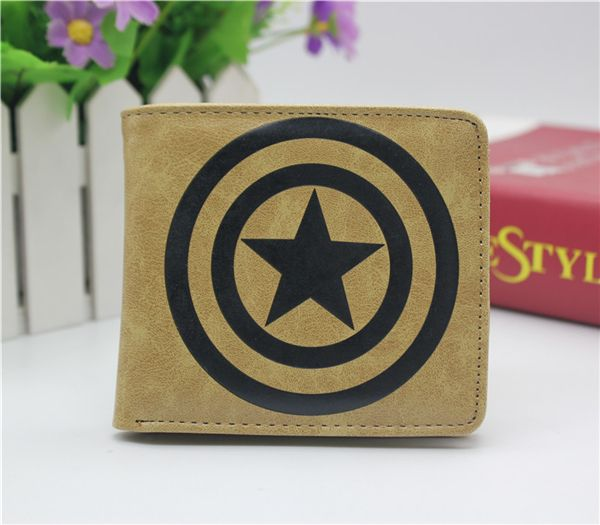 Marvel Comics Captain America coin wallet Cosplay men women Bifold Purse