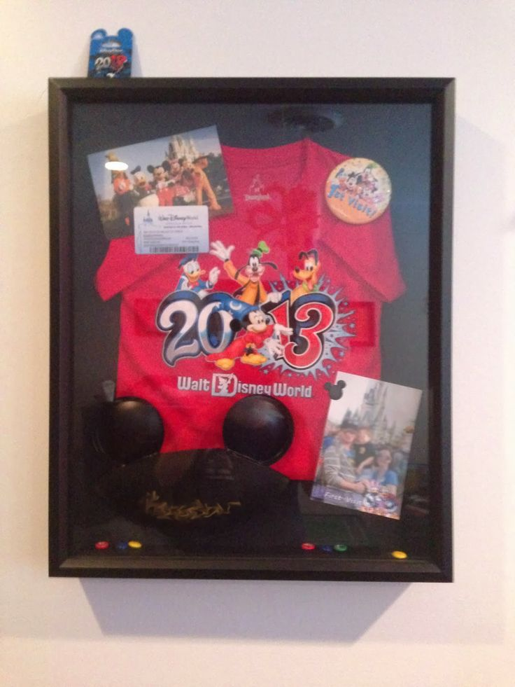 Great way to keep your child's first Disney memories alive!  Make a shadowbox containing mementos from your trip to hang in their room.