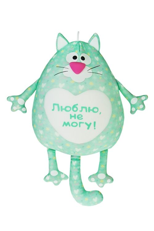 Купить Игрушка мягконабивная Влюбленный котик за 1650 руб.   Красный Куб