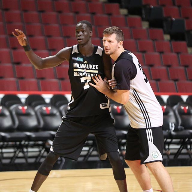 Thon Maker and Mirza Teletovic.