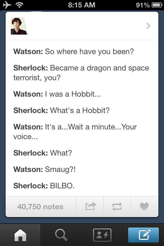 Sherlock Hobbit Crossover