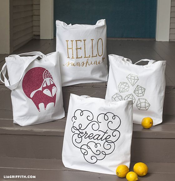 Iron-On Glitter for Your Summer Tote