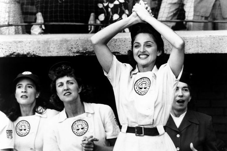 A League Of Their Own - Mad-Eyes - Madonna movies, Penny Marshall, Mae 'All-The-Way-Mae' Mordabito