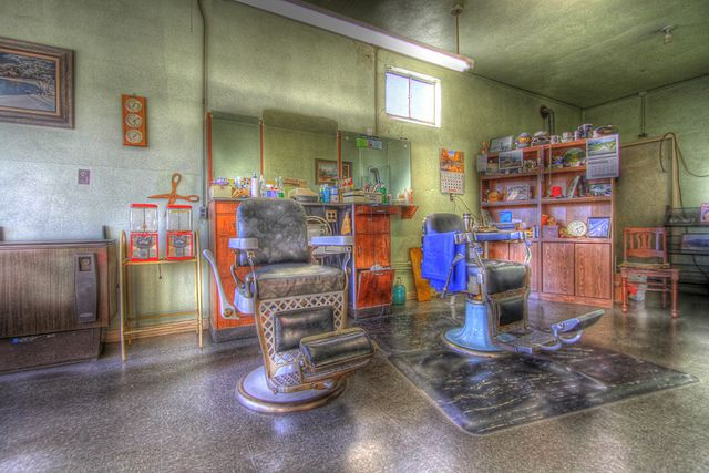 Jim's Vintage Barber Shop 2 by Photo's by Roy, via Flickr