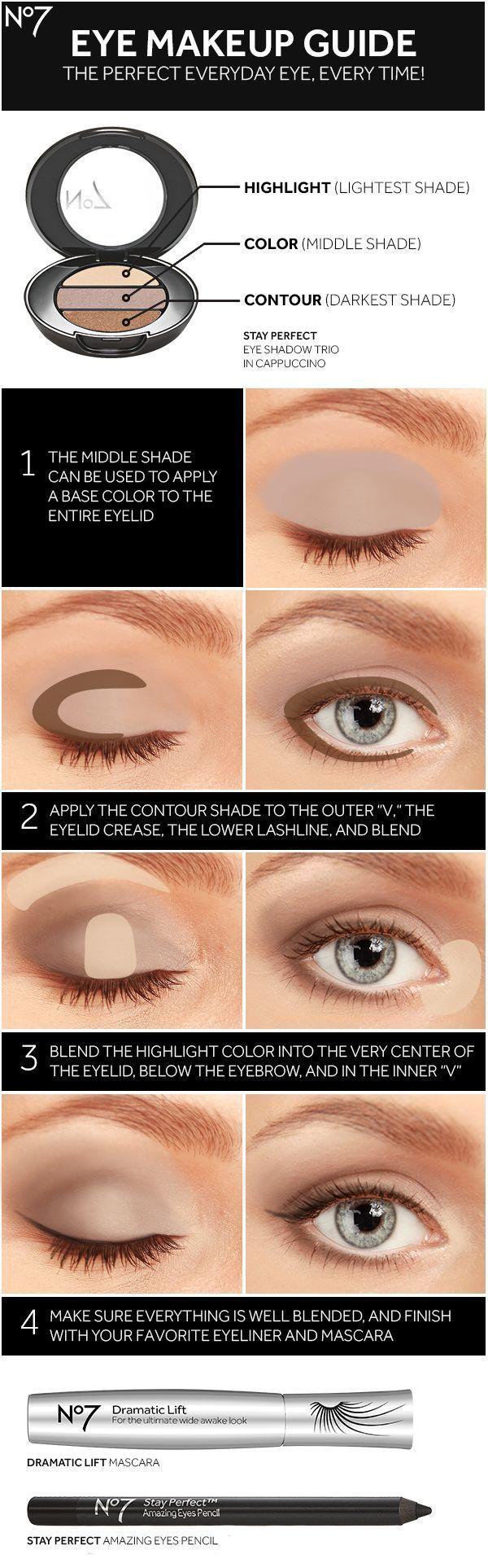 Schärfen Sie Ihr Augen Make-up mit No7 Lidschatten, Mascara, Eyeliner und diese…