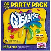 Walmart: Betty Crocker Fruit Gushers Strawberry Splash & Tropical Flavors Party Pack Fruit Flavored Snacks, 0.53 oz, 36 count