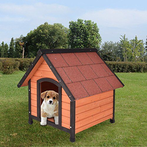 Tangkula Dog House Pet Outdoor Bed Wood Shelter Home Weather Kennel Waterproof 4 Size | Dog Supplies - Warning: Save up to 87% on Dog Supplies and Dog Accessories at Our Online Pet Supply Shop