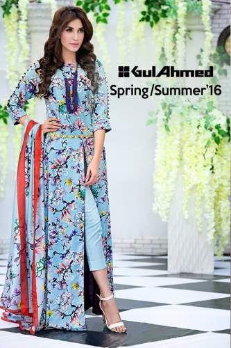 Soya Silk Summer Lawn Collection 2016-17 by Gul Ahmed