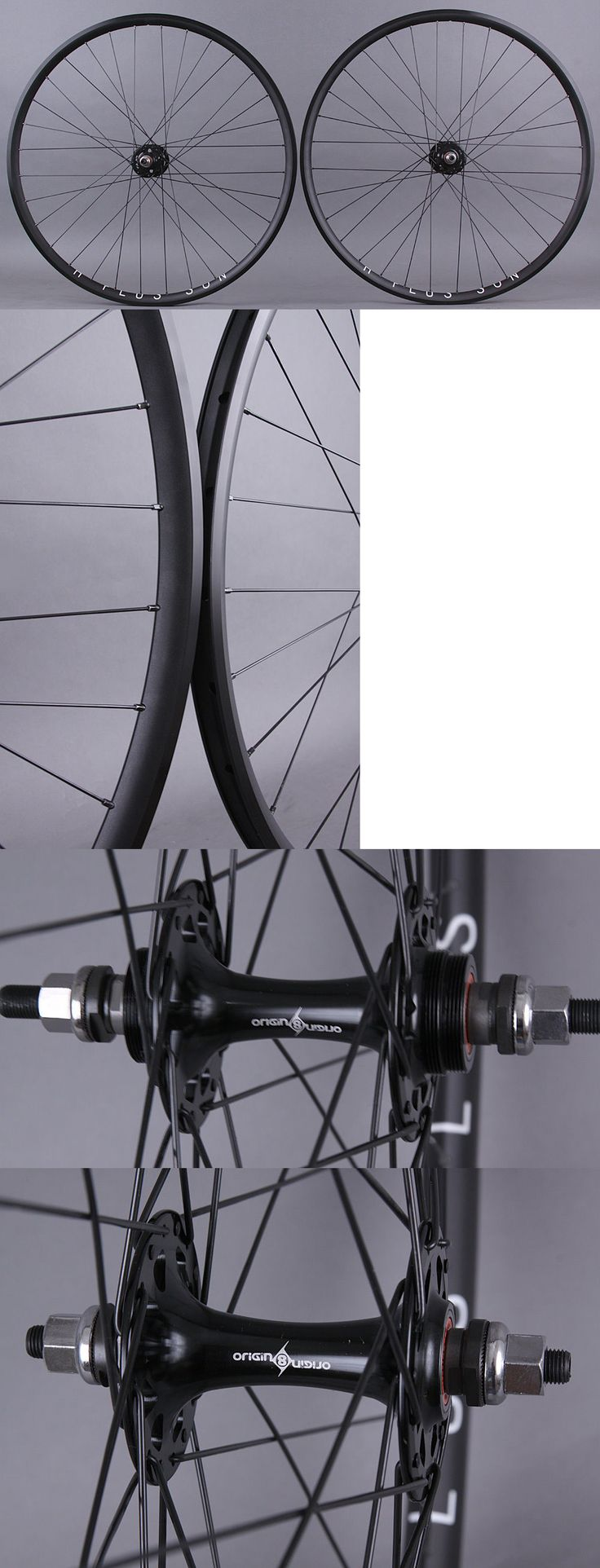 Wheels and Wheelsets 177830: H + Plus Son Archetype Black Rims Track Fixed Gear Bike Wheelset Dt Competition BUY IT NOW ONLY: $289.0
