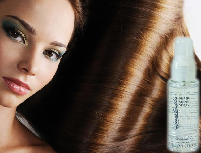 Great Lengths Super Shine Spray Hair hairstyle (Find us on: www.facebook.com/GreatLengthsPoland)