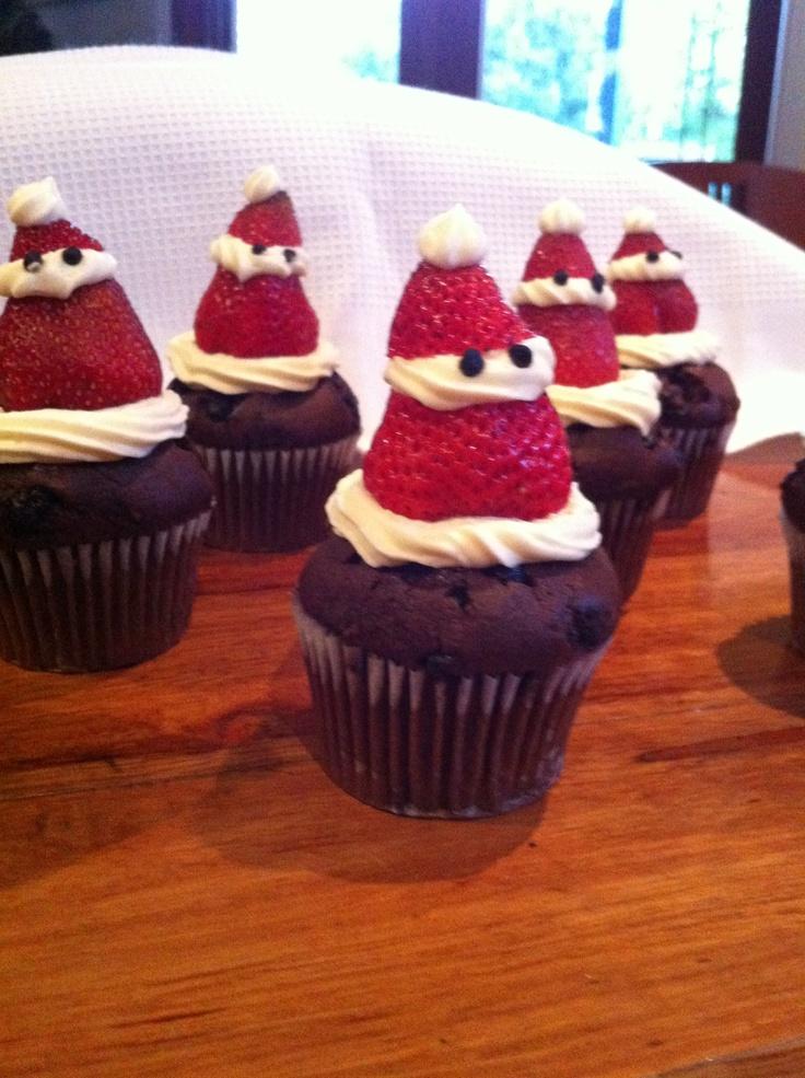 Lil Santa cupcakes