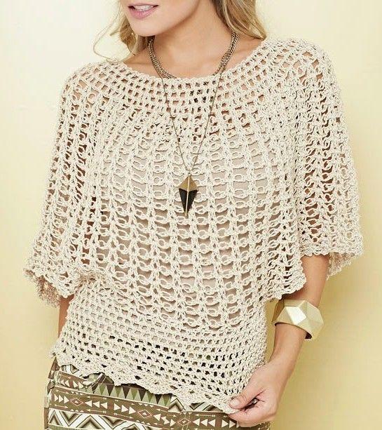 Risultati immagini per blusas tejidas