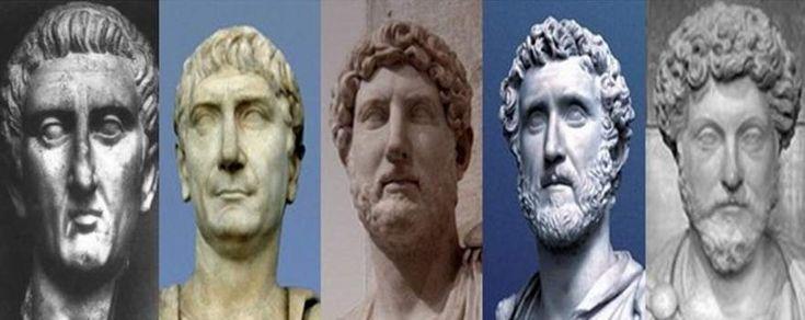 Nerva–Antonine dynasty: The 5 good Emperors of Rome.   Nerva, Trajan, Hadrian, Antoninus Pius, Marcus Aurelius.