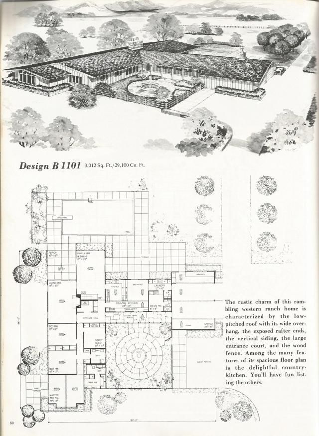 1000 images about ranch house on pinterest mid century for Vintage ranch house plans
