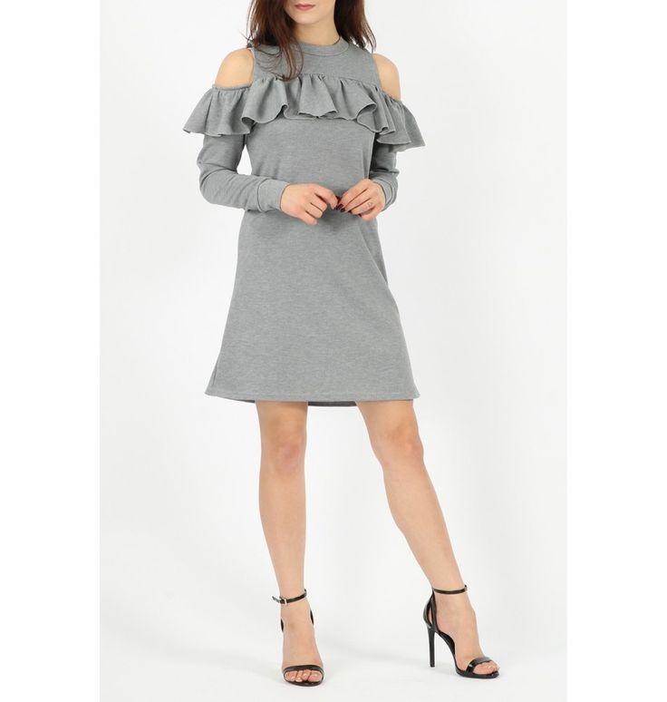 """""""Cold shoulders"""" Φόρεμα με Βολάν"""