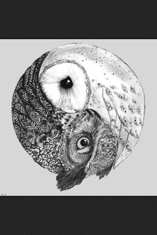 Black And White Owl Owls Tattoos Image 418868 On Favimcom Crafty