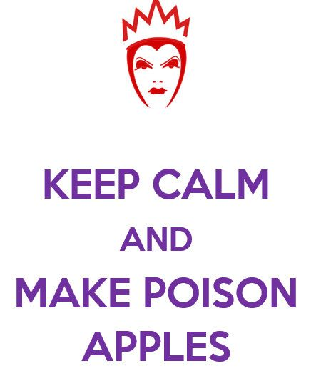 Evil Queen Keep Calm and Make Poison Apples TShirt by CustomPersonaliTees on Etsy, $14.96