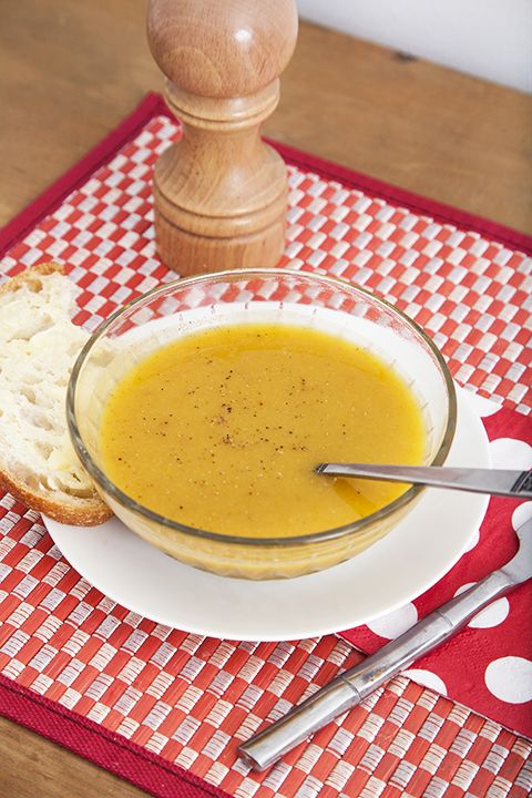 Potage vitaminé carottes, courge et patates douce #recettesduqc #potage #sante