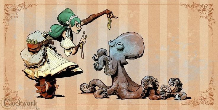 """""""Tricks for Otto"""" art by Brian Kesinger"""