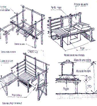 Fichas t cnicas para campamento construcciones 34 hojas for Muebles bambu pdf